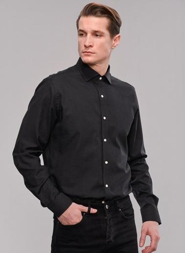 People By Fabrika İtalyan Yaka Gömlek Siyah